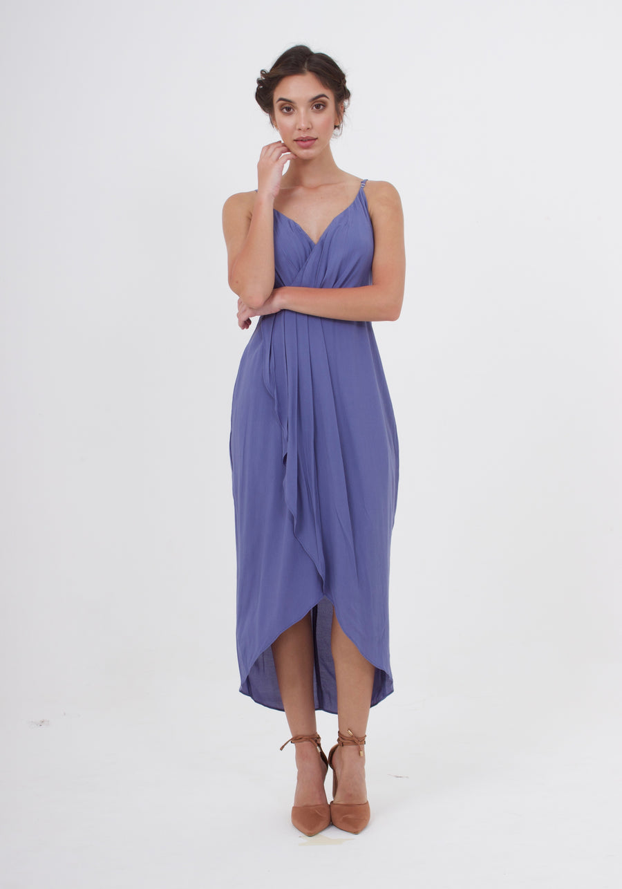 Cleo Dress - Steel Blue