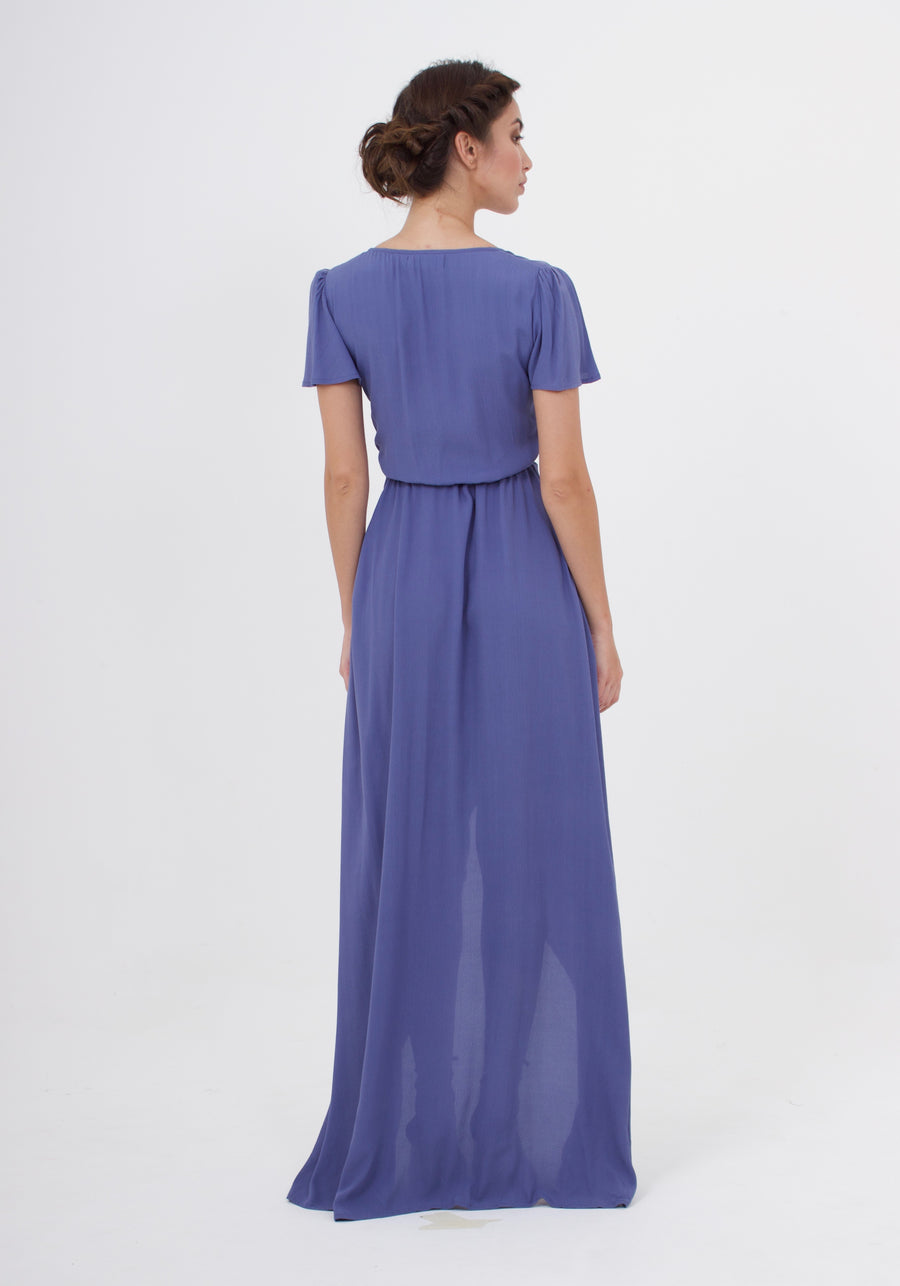 Sunrise Maxi Dress - Steel Blue