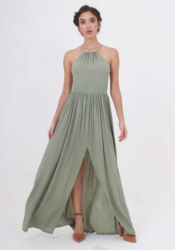 Maxi Dress - Sage Craft Green