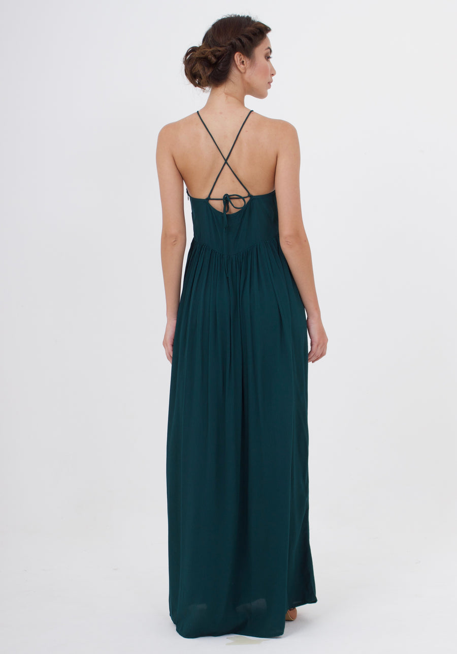 Maxi Dress - Emerald Green