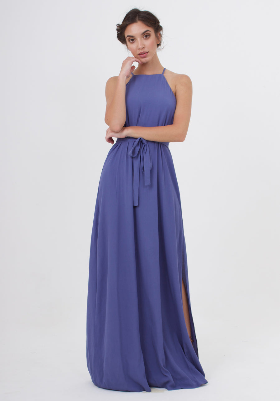 Marc Maxi Dress - Steel Blue
