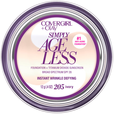 CoverGirl + Olay Simply Ageless Instant Wrinkle Defying Foundation  .4oz