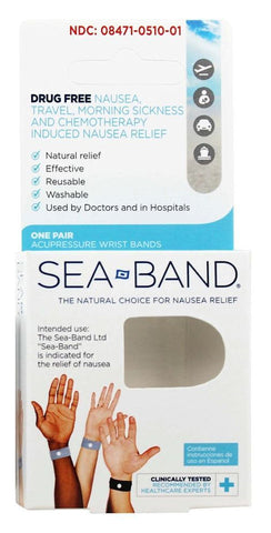 Sea-Band Anti-Nausea Wristbands Adult    1 Pair
