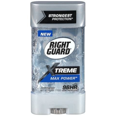Right Guard Xtreme Antiperspirant Deodorant Clear Gel Max Power 4oz