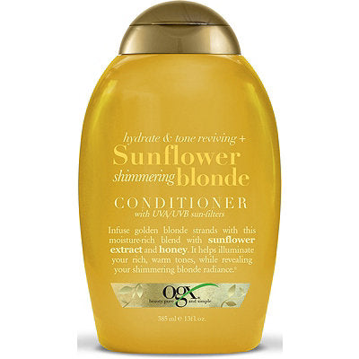 Ogx Hydrate & Color Reviving + Sunflower Shimmering Blonde Conditioner 13oz