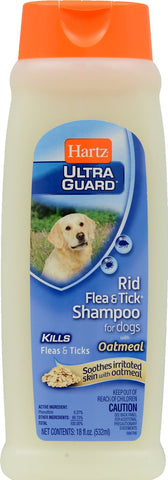 Hartz UltraGuard Rid Flea & Tick Shampoo with Oatmeal for Dogs 18oz