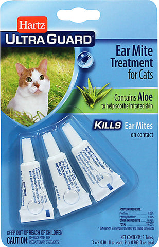 Hartz UltraGuard Ear Mite Treatment for Cats 3 pack