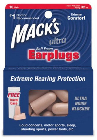 Mack's Ultra Soft Foam Earplugs    10 Pair