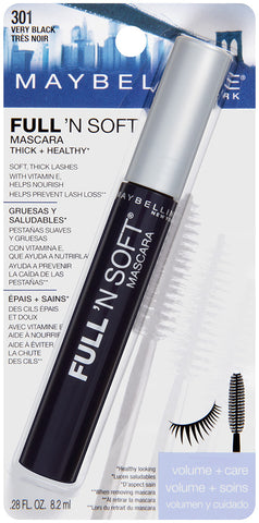 Maybelline New York Full N Soft Washable Mascara 301 Very Black .28oz