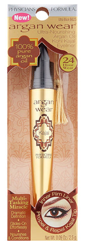 Physicians Formula Argan Wear Ultra-Nourishing Argan Oil Kohl Kajal Eyeliner, Ultra Black .09oz