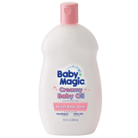 Baby Magic Creamy Baby Oil Sweet Baby Rose    16.5oz