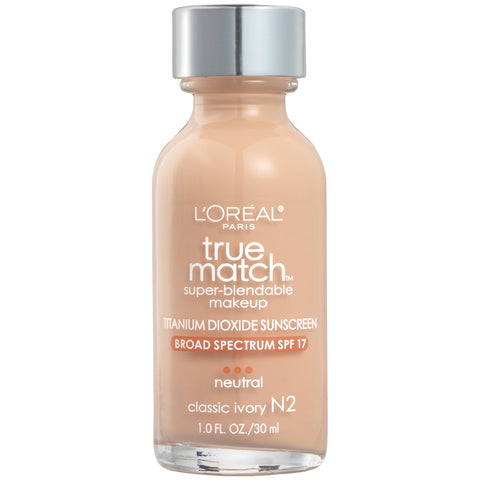 L'Oreal Paris True Match Super-Blendable Liquid Makeup SPF-17 1oz
