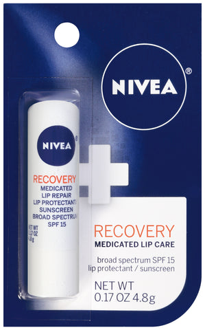 Nivea Recovery Medicated Lip Care Spf-15  .17oz