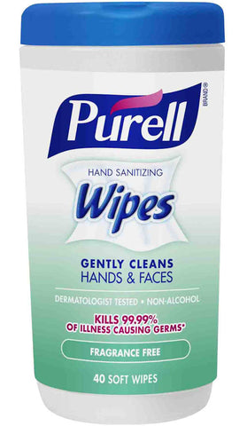 Purell Hand Sanitizing Wipes Fragrance Free 40 Count