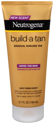 Neutrogena Build-a-Tan Gradual Sunless Lotion Light Fresh Scent 6.7oz