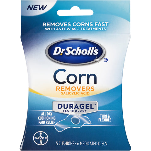 Dr. Scholl's Duragel Corn Removers  5 Cushions + 6 Medicated Discs