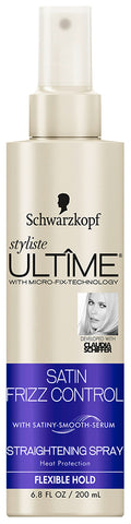 Schwarzkopf Styliste Ultime Satin Frizz Control Straightening Spray 6.8oz