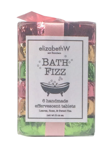 ElizabethW Rose, Sweet Tea & Leaves Bath Fizz   6  Count