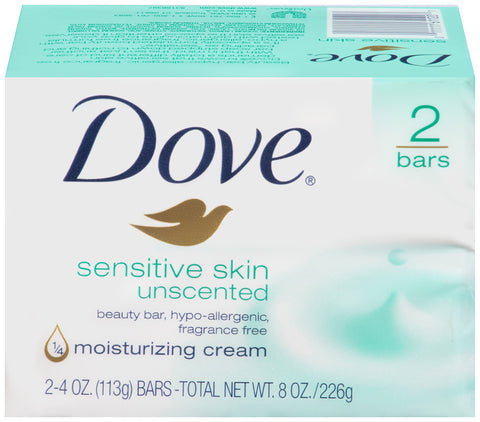 Dove Beauty Bar Sensitive Skin Unscented