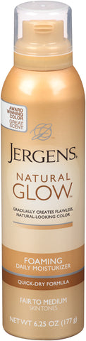 Jergens Natural Glow Foaming Daily Moisturizer Fair to Medium Skin Tones  6.25oz