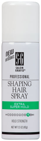 Salon Grafix Professional Shaping Hair Spray Extra Super Hold Travel Size   1.5oz