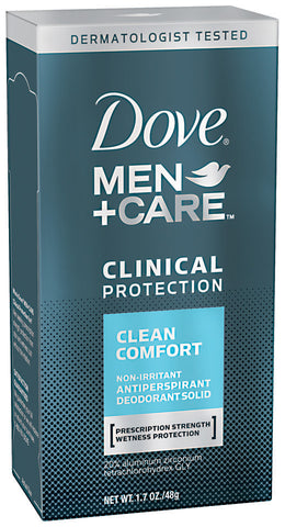 Dove Men +Care Clean Comfort Clinical Protection Antiperspirant Deodorant Solid  1.7oz