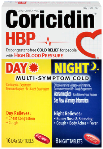 Coricidin HBP Multisymptom Cold Relief Day & Night   24 Count