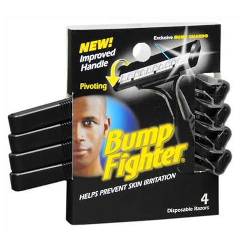 Bump Fighter Disposable Razors 4 Count, Pack of 12