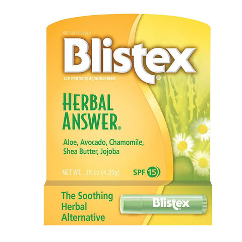 Blistex Herbal Answer Lip Balm SPF-15  .15oz
