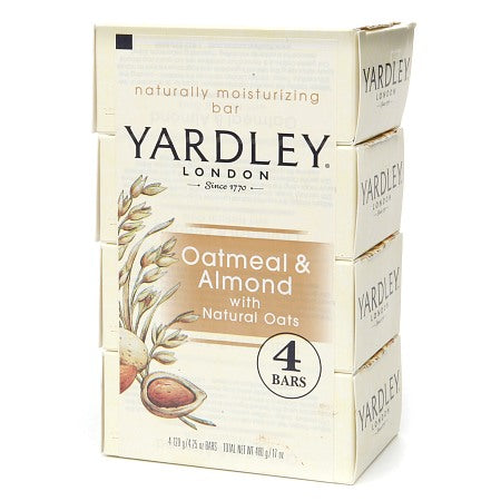 Yardley Oatmeal & Almond Bar Soap    4 x 4.25