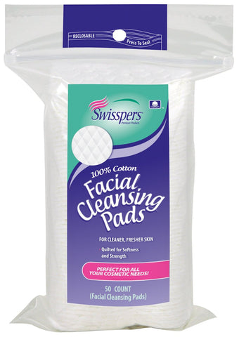Swisspers Facial Cleansing Pads   50 Count