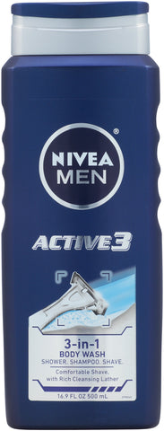 Nivea Men Active3 3-in-1 Body Wash   16.9oz