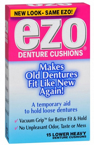 EZO Denture Cushions Lower Heavy   15 Count