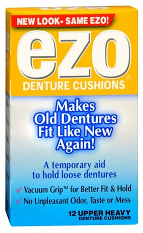 EZO Denture Cushions Upper Heavy    12 Count