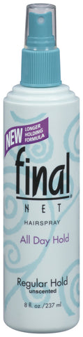 Final Net Regular Hold Unscented Pump Hairspray  8oz