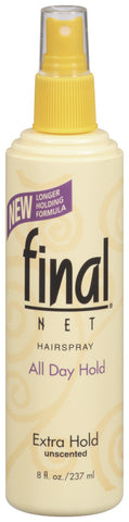 Final Net Extra Hold Unscented Pump Hairspray   8oz
