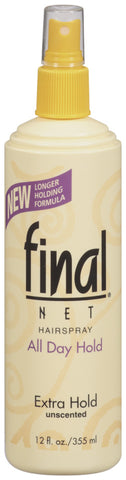 Final Net Extra Hold Unscented Pump Hairspray   12oz