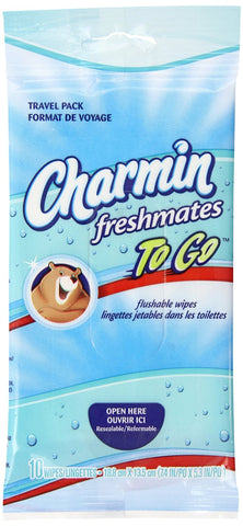 Charmin To Go Fresh Mates Flushable Wipes  10 Count