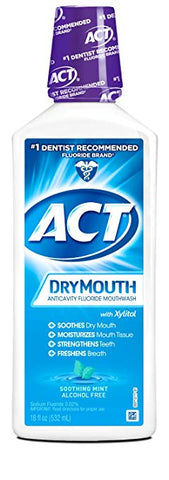 ACT Total Care Anticavity Fluoride Dry Mouth Rinse Soothing Mint