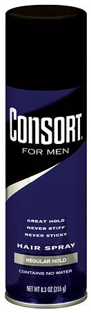 Consort For Men Aerosol Hair Spray Regular Hold   8.3oz