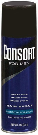 Consort For Men Aerosol Hair Spray Extra Hold Unscented  8.3oz