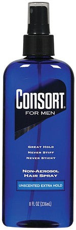 Consort For Men Pump Hair Spray Extra Hold Unscented   8oz