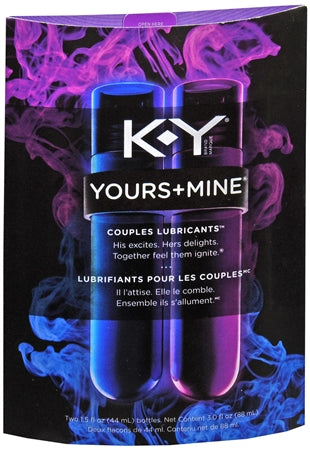 K-Y Brand Yours & Mine Couples Lubricant 3oz