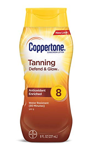 Coppertone Tanning Lotion Sunscreen SPF-8 8oz