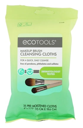 EcoTools Makeup Brush Cleansing Clothes  25 Count