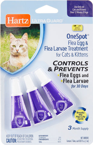 Hartz UltraGuard OneSpot Treatment for Cats and Kittens 3 pack