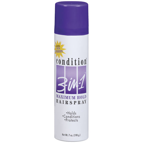 Condition 3-in-1 Aerosol Hair Spray Maximum Hold   7oz