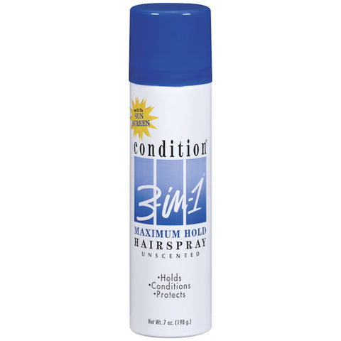Condition 3-in-1 Hair Spray Maximum Hold Unscented  7oz