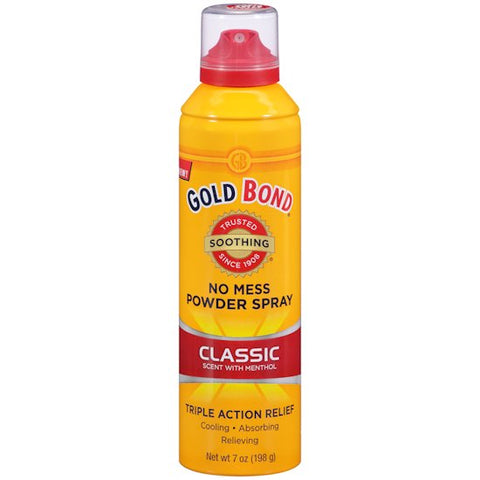 Gold Bond No Mess Powder Spray Classic Scent  with Menthol  7oz