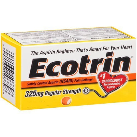 Ecotrin Adult Regular Strength Safety Coated Aspirin Tablets